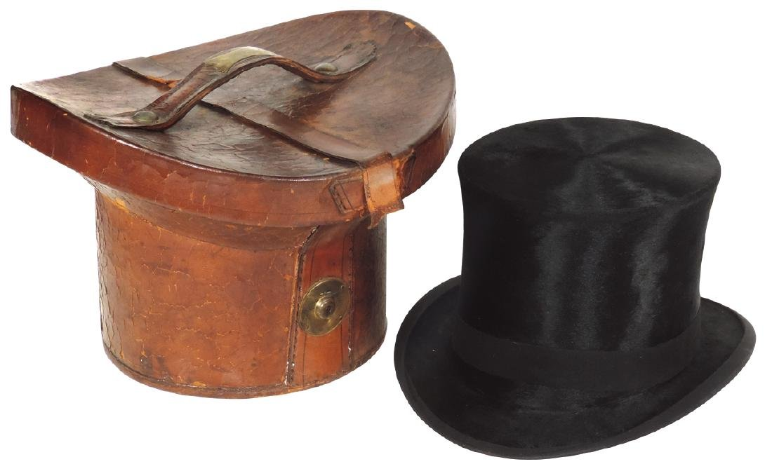 Clothing, beaver-skin hat w/Best Russian Leather