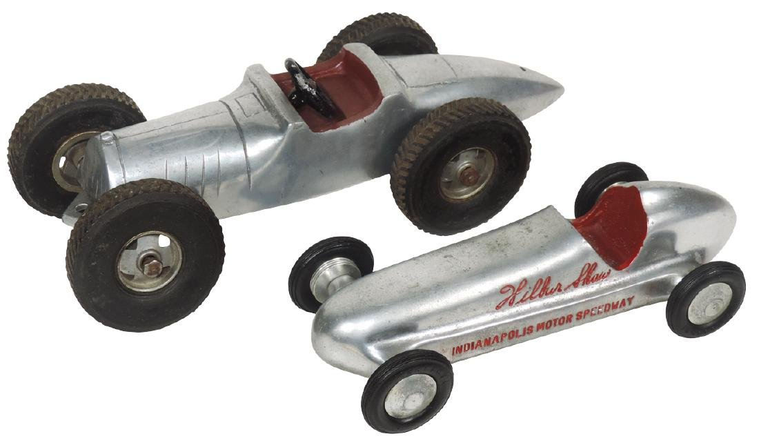 Toy race cars (2), Indianapolis Motor Speedway Wilbur