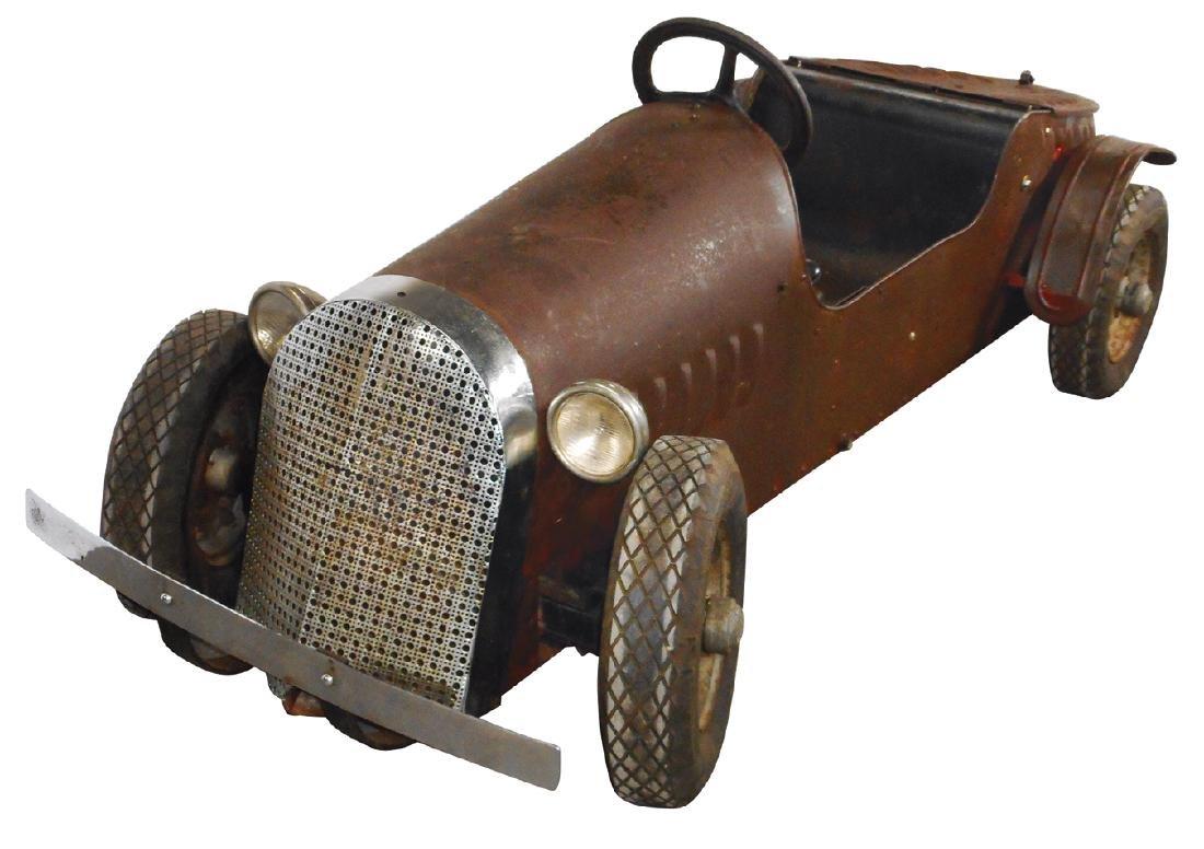 Miniature roadster, motorized Custer Car built by