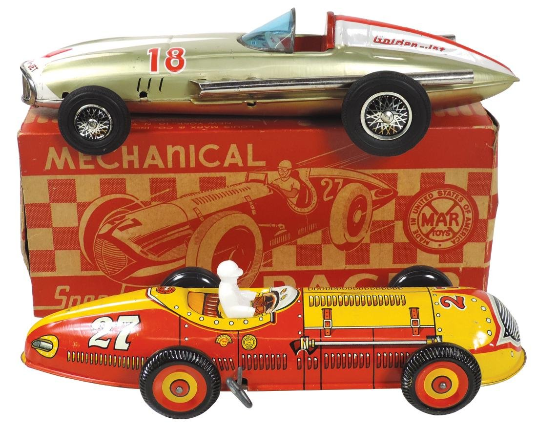 Toy race cars (2), Marx Indy Racer #27 w/orig box,