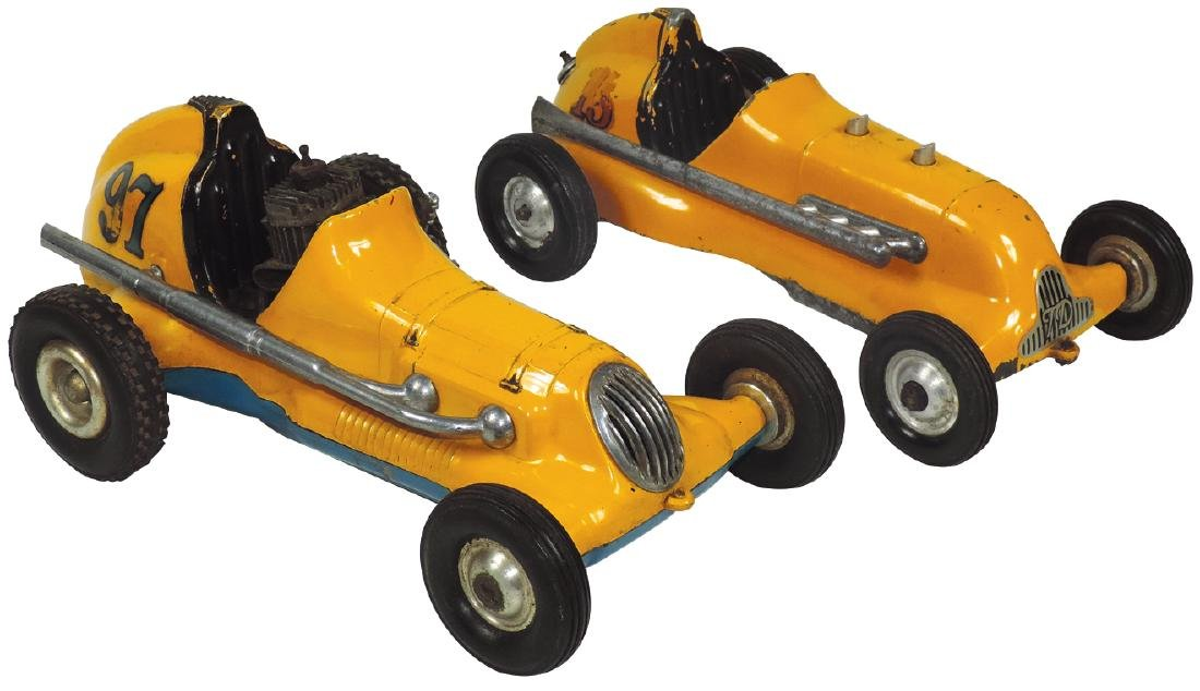 Toy race cars (2), Ray Cox, Thimble Drome Champion &