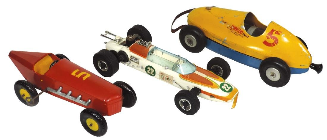 Toy race cars (3), Woodette Tornado Racer, Red Race car