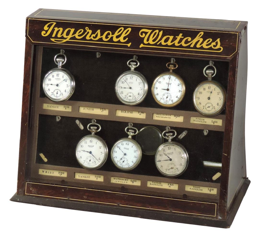 Jewelry store counter display, Ingersoll Watches,