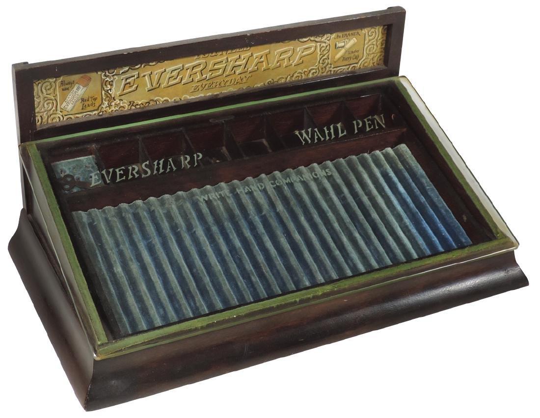 Fountain pen countertop showcase, Eversharp Pen,