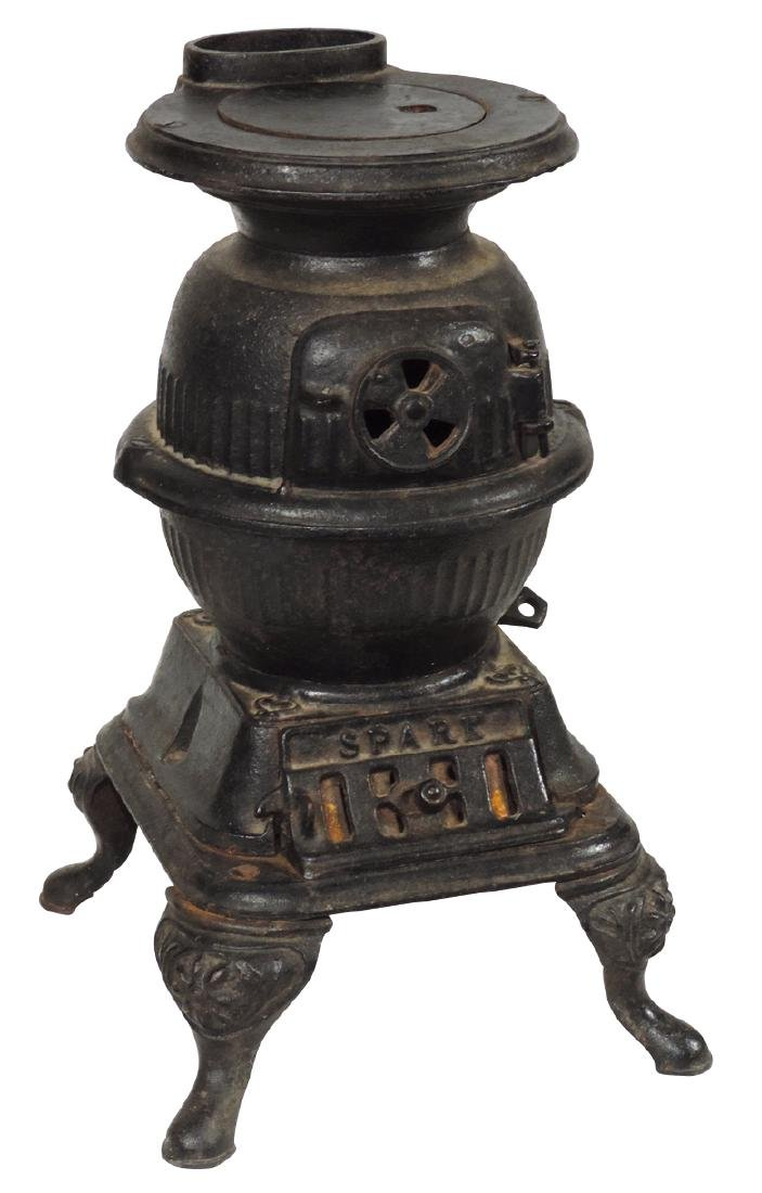 Salesman sample or toy stove, Spark, mfgd by Grey Iron