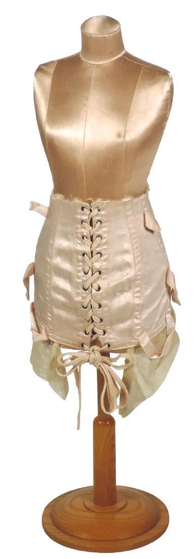 Salesman sample Victorian lady's corset on