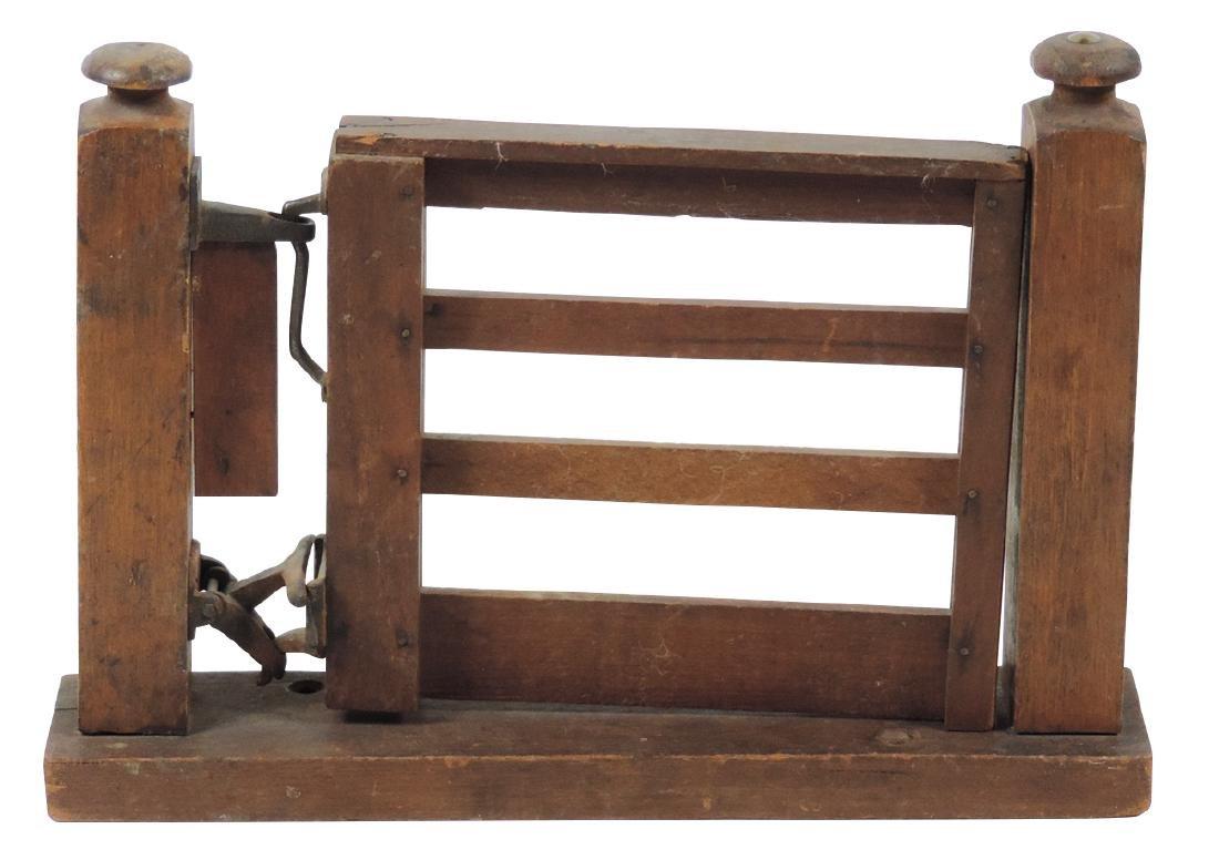 Salesman sample swinging gate, wood & metal, unusual