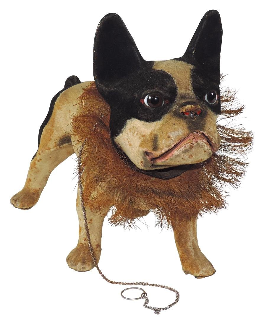 Toy French growler bulldog pull toy, plush covered