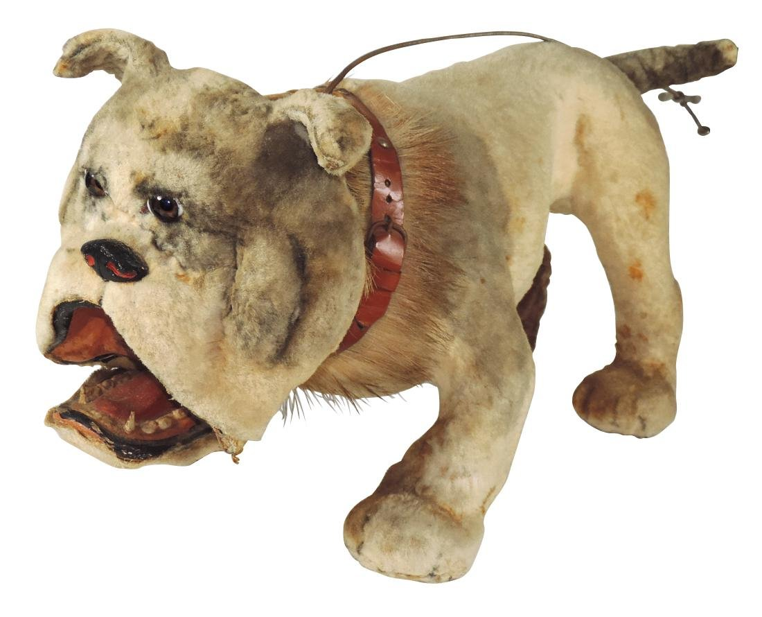 Toy French bulldog pull toy w/bobbing head, plush