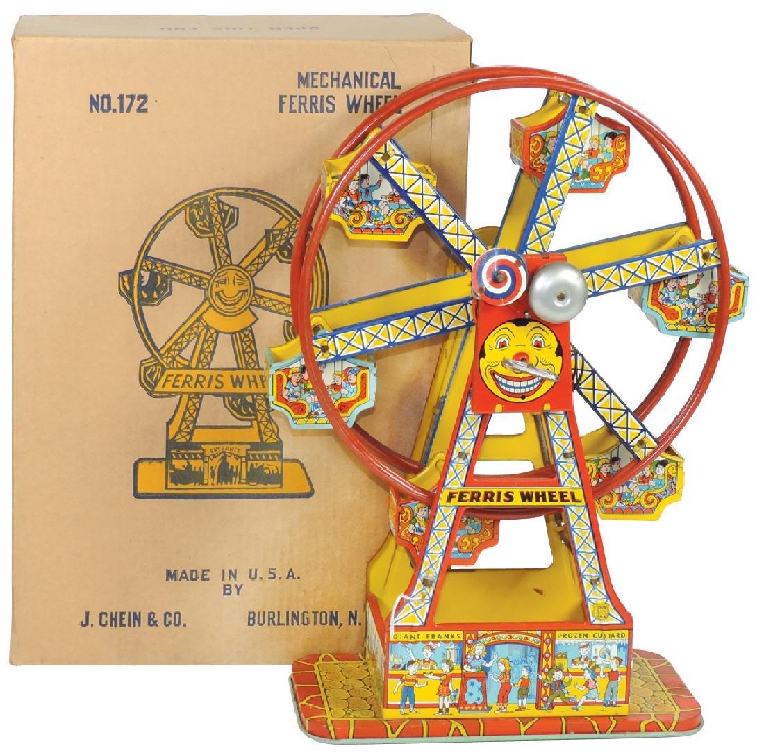 Toy J. Chein Mechanical Ferris Wheel No. 172 w/orig
