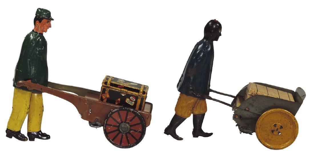 Toys (2), litho on tin windups, Strauss Black Porter