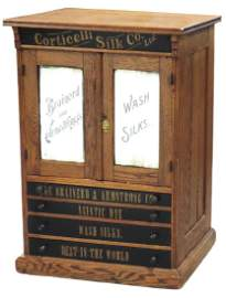 Country store spool cabinet, Corticelli Silk Co./The