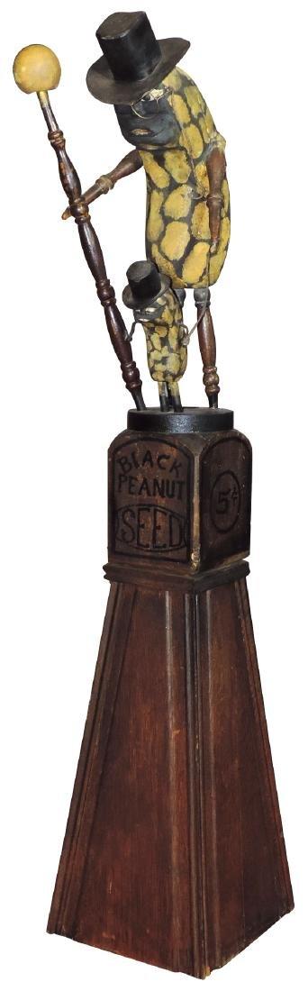 """Mr. Peanut advertising figure, """"Black Peanut Seed 5"""