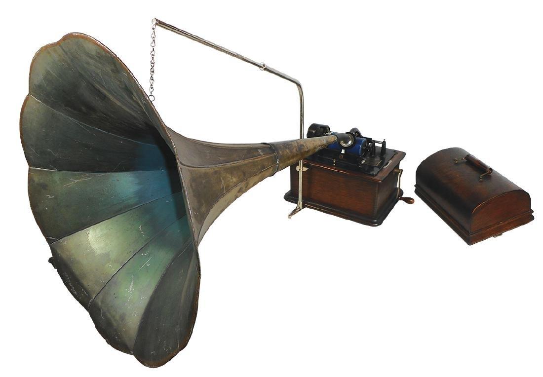 Musical, Edison Standard Cylinder Phonograph, oak case