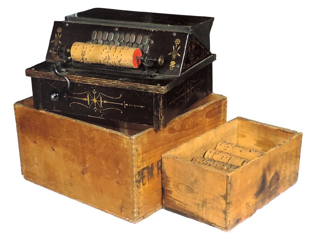 Musical, Gem Roller Organ w/orig shipping box & 10