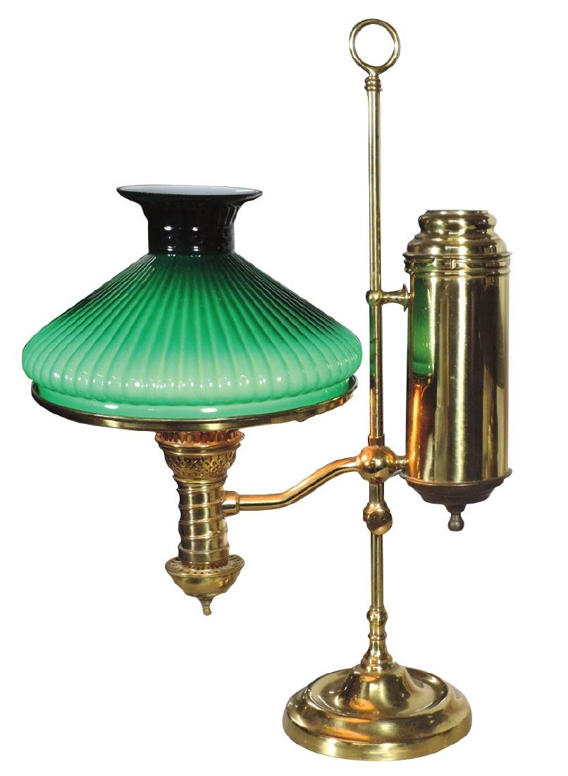 Lamp, referred to as a student lamp, mfgd by Manhattan