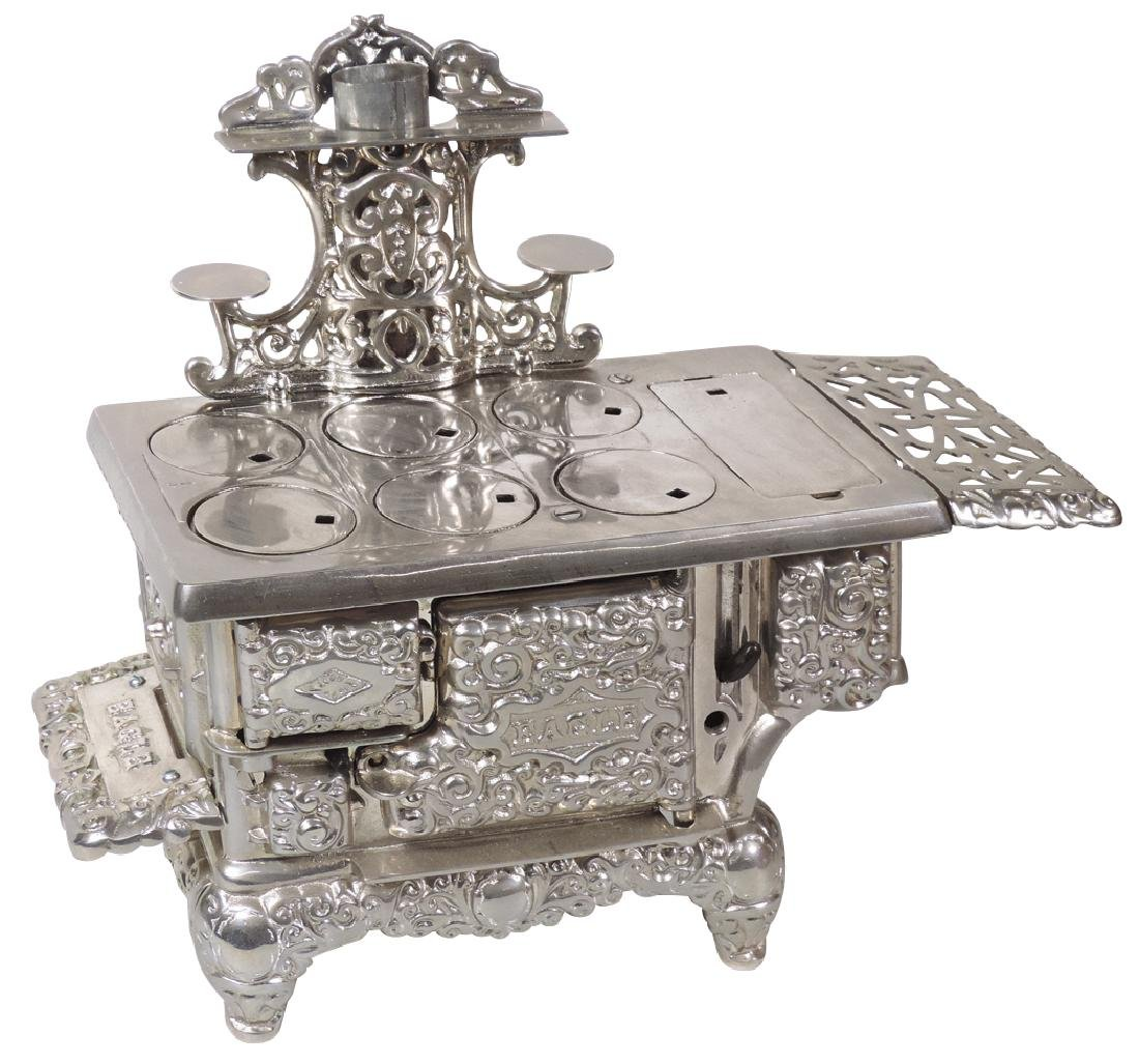 """Salesman sample or toy cook stove, """"Eagle"""" by Lancaster"""