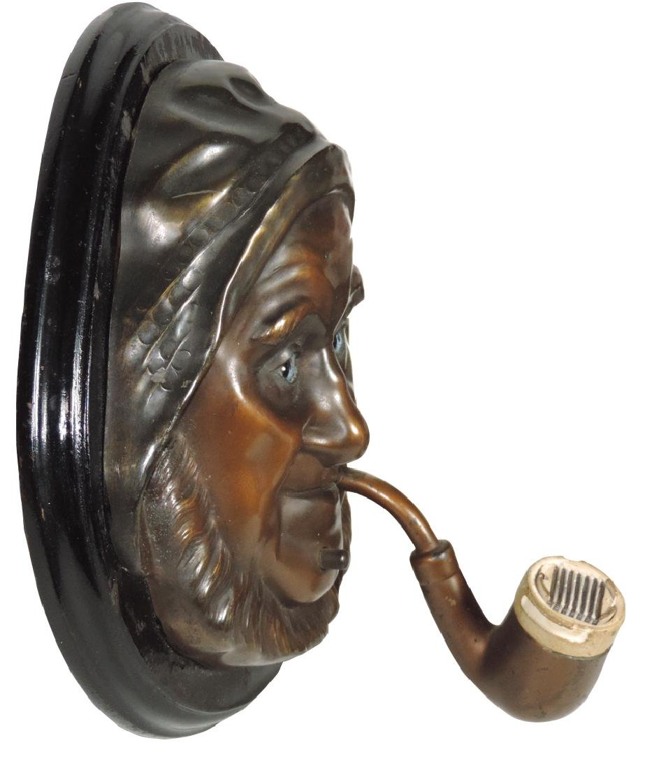 Cigar lighter, Old Man of the Sea, wall-mount, orig - 2