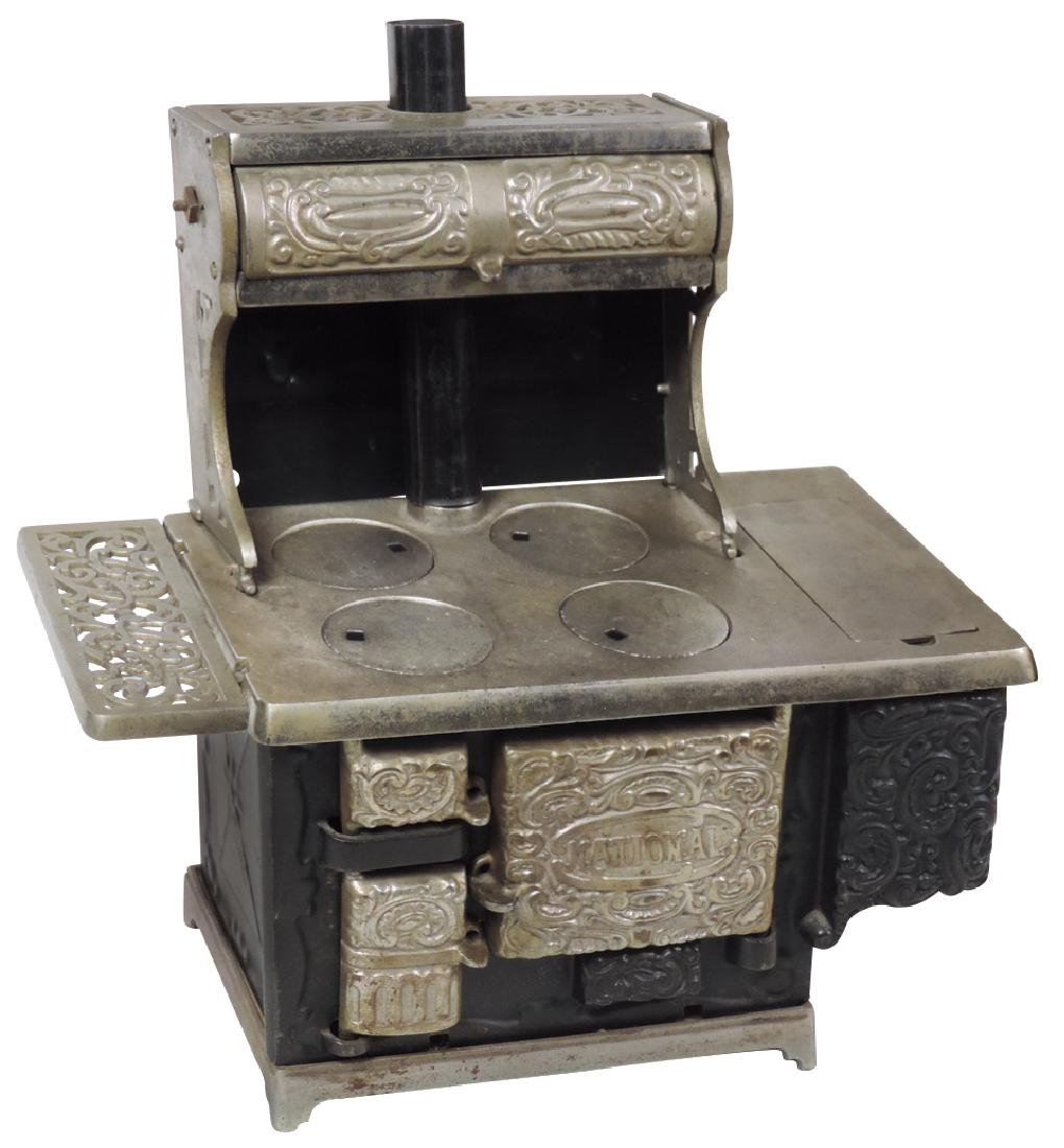 "Salesman sample or toy cook stove, ""National"" cast iron"