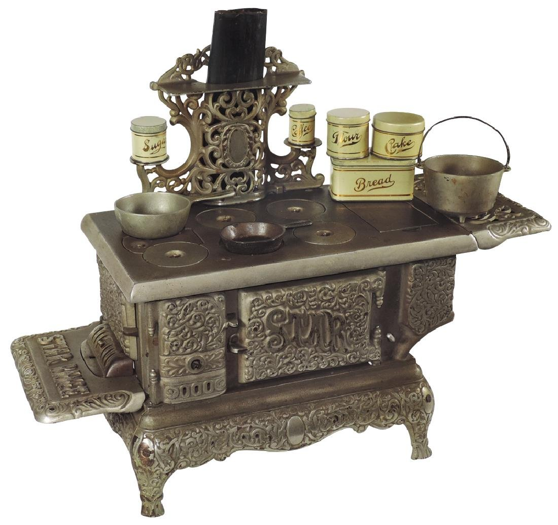 Salesman sample or toy cook stove,  Star Range, cast