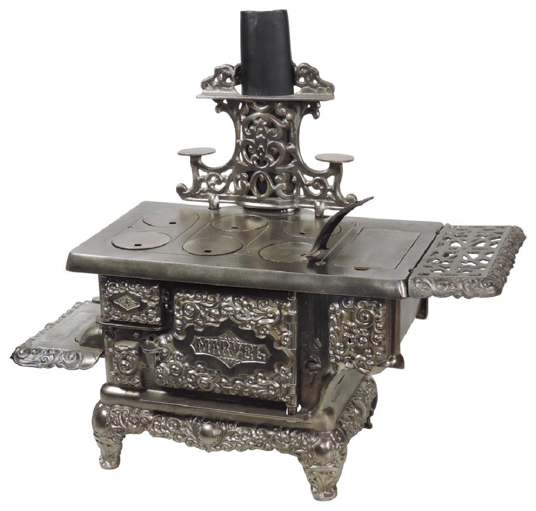 """Toy cook stove, """"Marvel"""", mfgd by Kenton, cast iron &"""