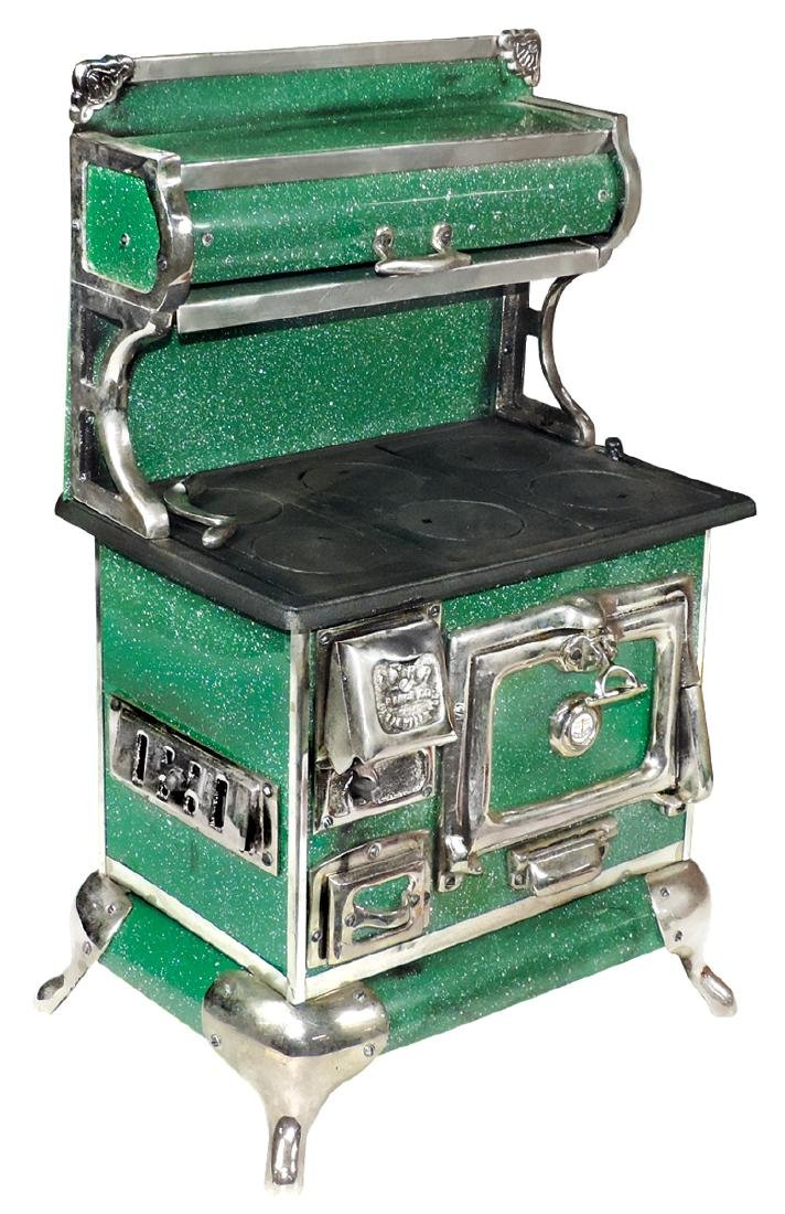 Toy cook stove, Karr Range Co.-Belleville, IL,