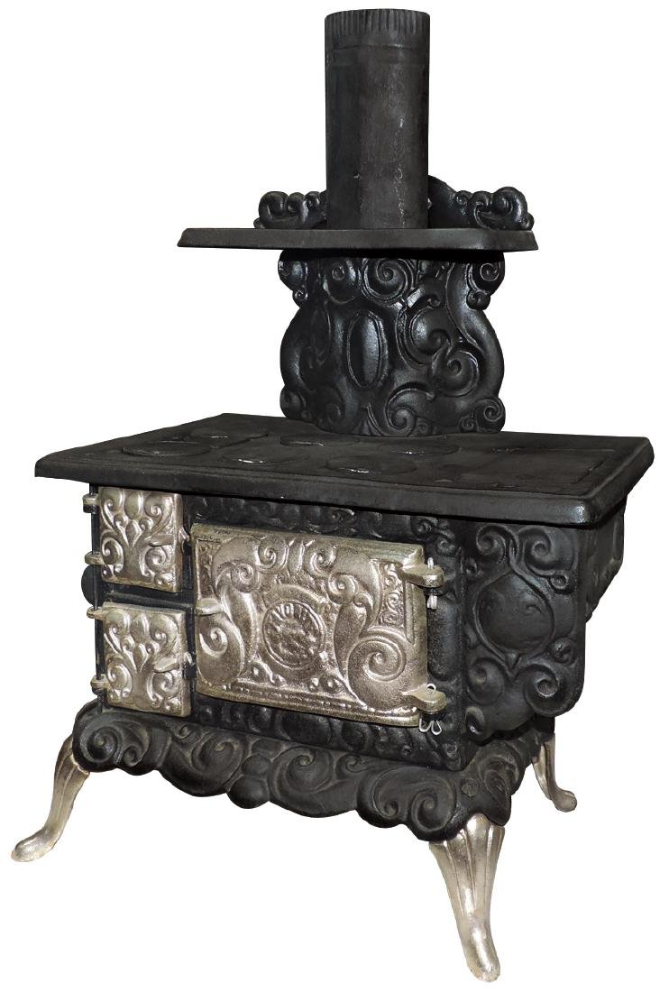 Toy cook stove, Favorite, cast iron 6-burner,