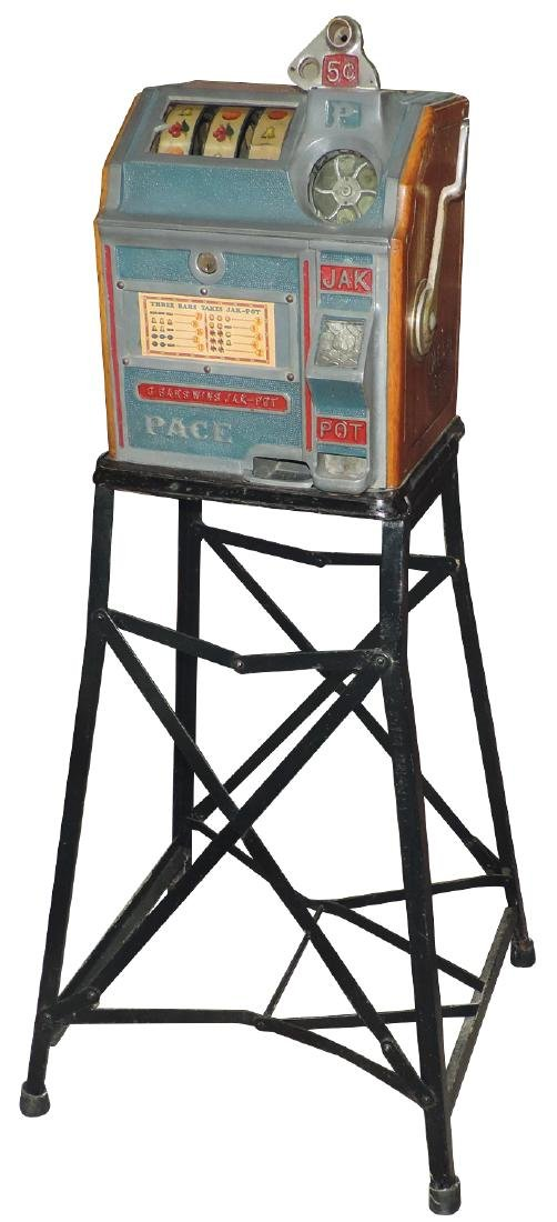Coin-operated slot machine, Pace Bantam w/Jak pot