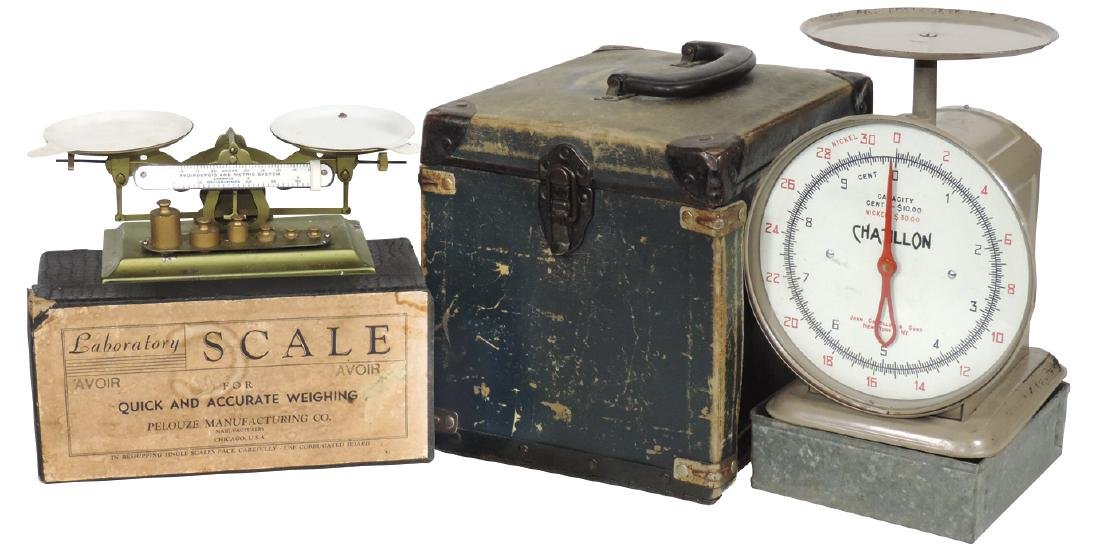 Scales (2), Pelouze Laboratory Scale w/weights in orig