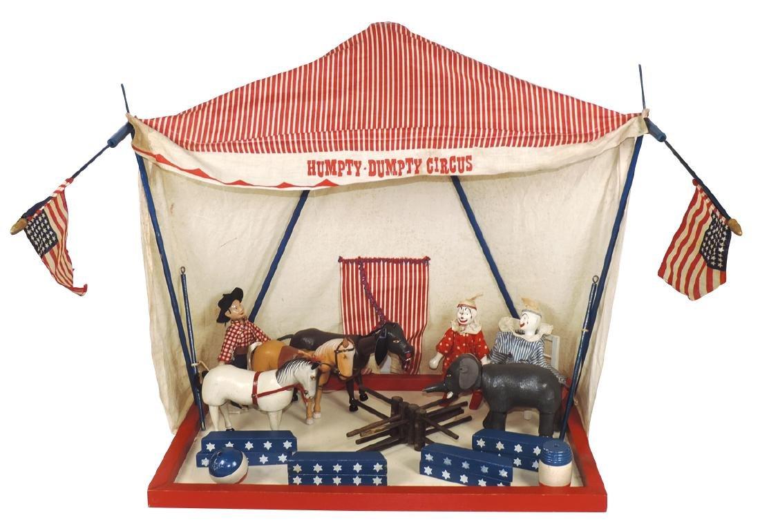 Toy Humpty-Dumpty Circus set, Schoenhut, includes