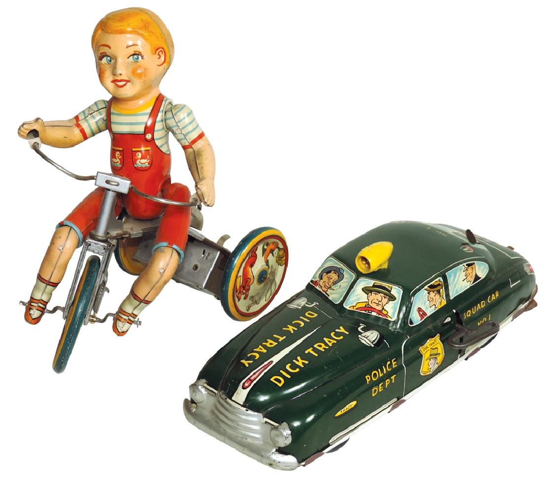 Toy windups (2), Marx Dick Tracy Police Squad Car No.1,