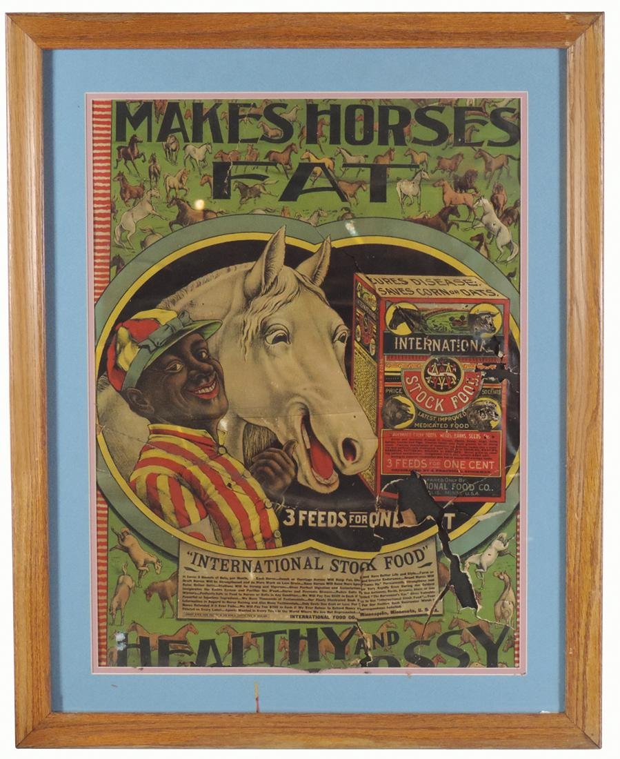 "Veterinarian poster, International Stock Food, ""Makes"