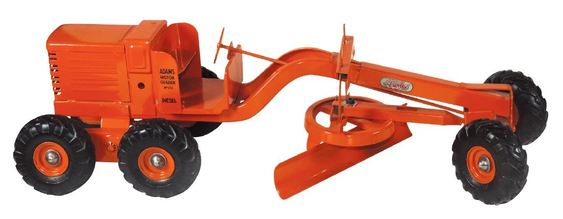Toy road grader, Model Toys Adams Motor Grader Diesel,
