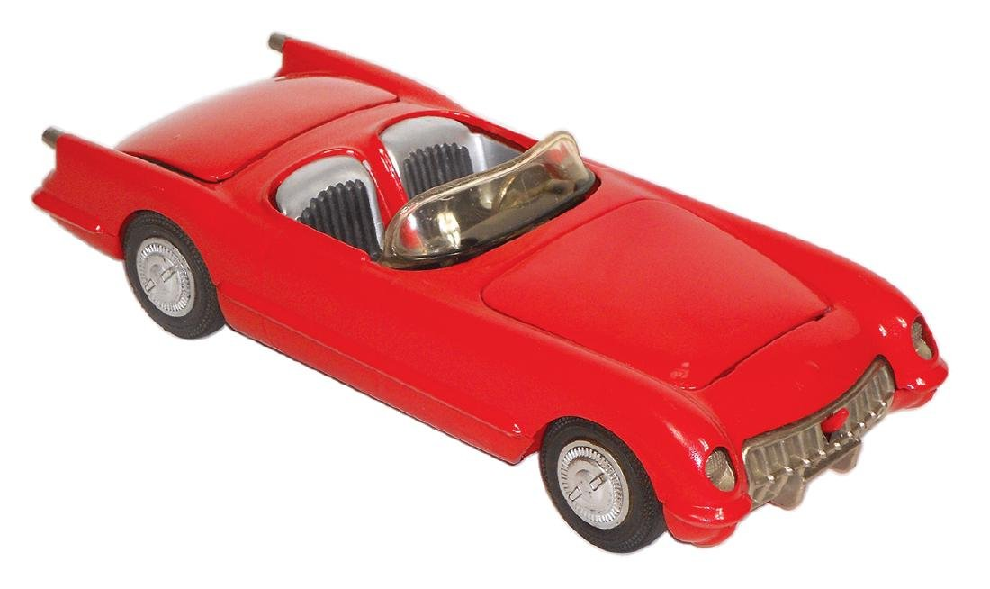 Toy car, Corvette, Hubley Kiddie Toy No. 509, made in