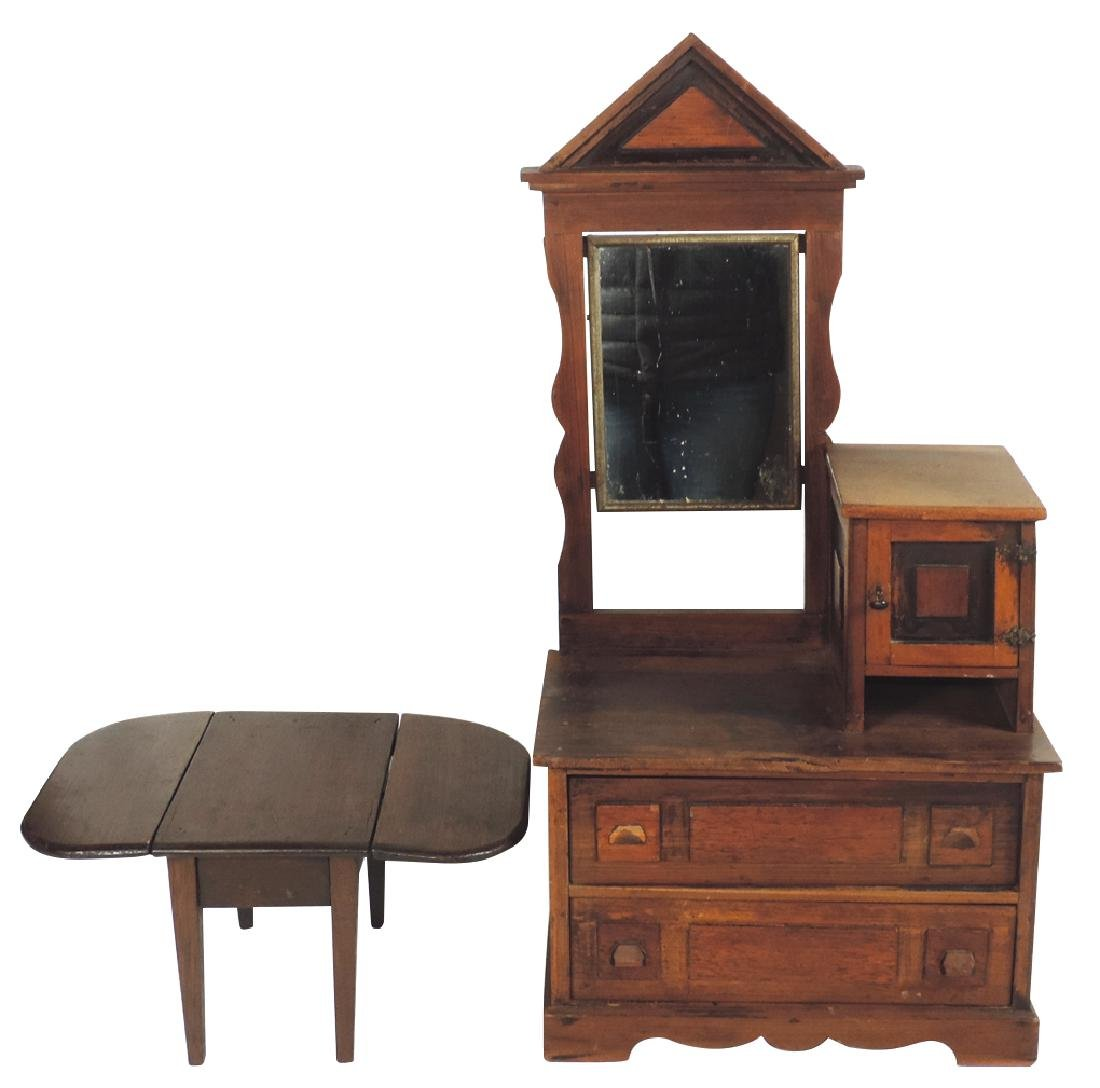 Children's furniture (2), Victorian dresser, pine