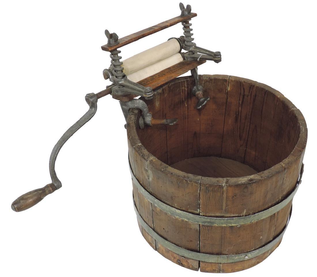 Toy wash bucket w/salesman sample Horse Shoe Brand