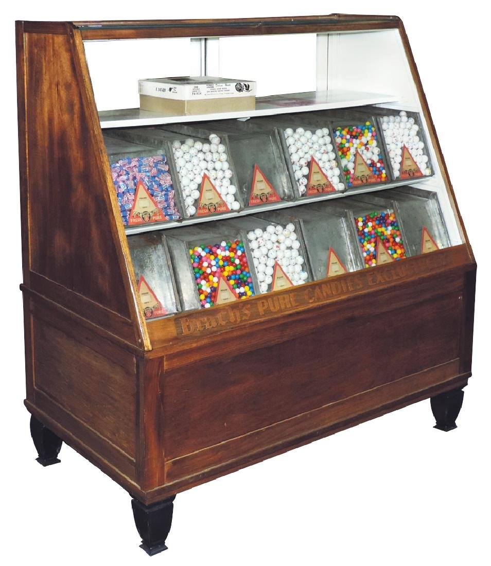 Country store candy case, Brach's Pure Candies