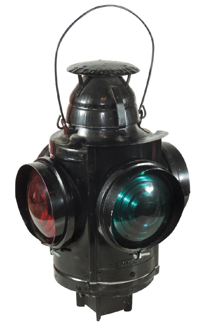 Railroad switch lantern, Soo Line, mfgd by Handlan-St.