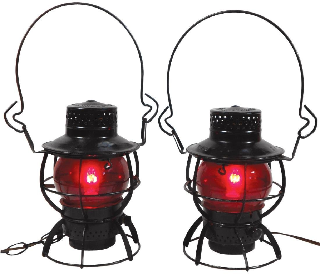 Railroad lanterns (2), Dressel-Arlington, NJ,