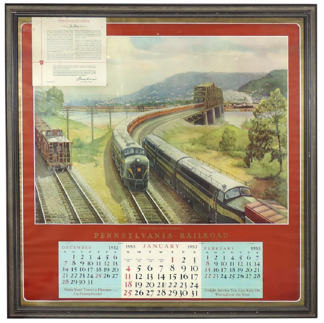 Railroad calendars (2), 1953 Pennsylvania Railroad,