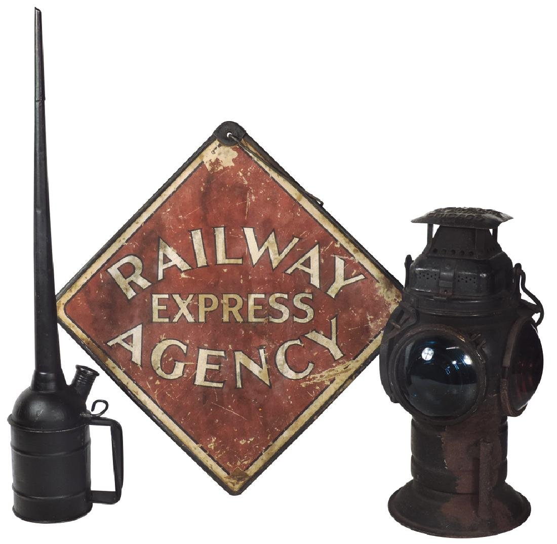 Railroad items (3), Adlake non-sweating switch lamp,