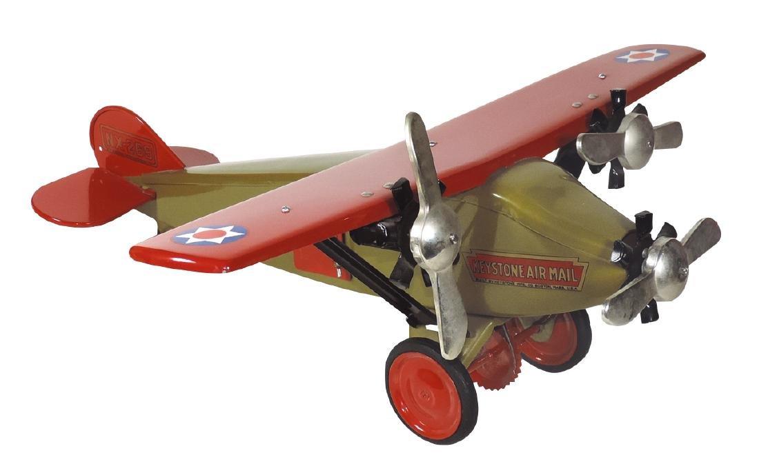 Toy airplane, Keystone Air Mail, pressed steel,