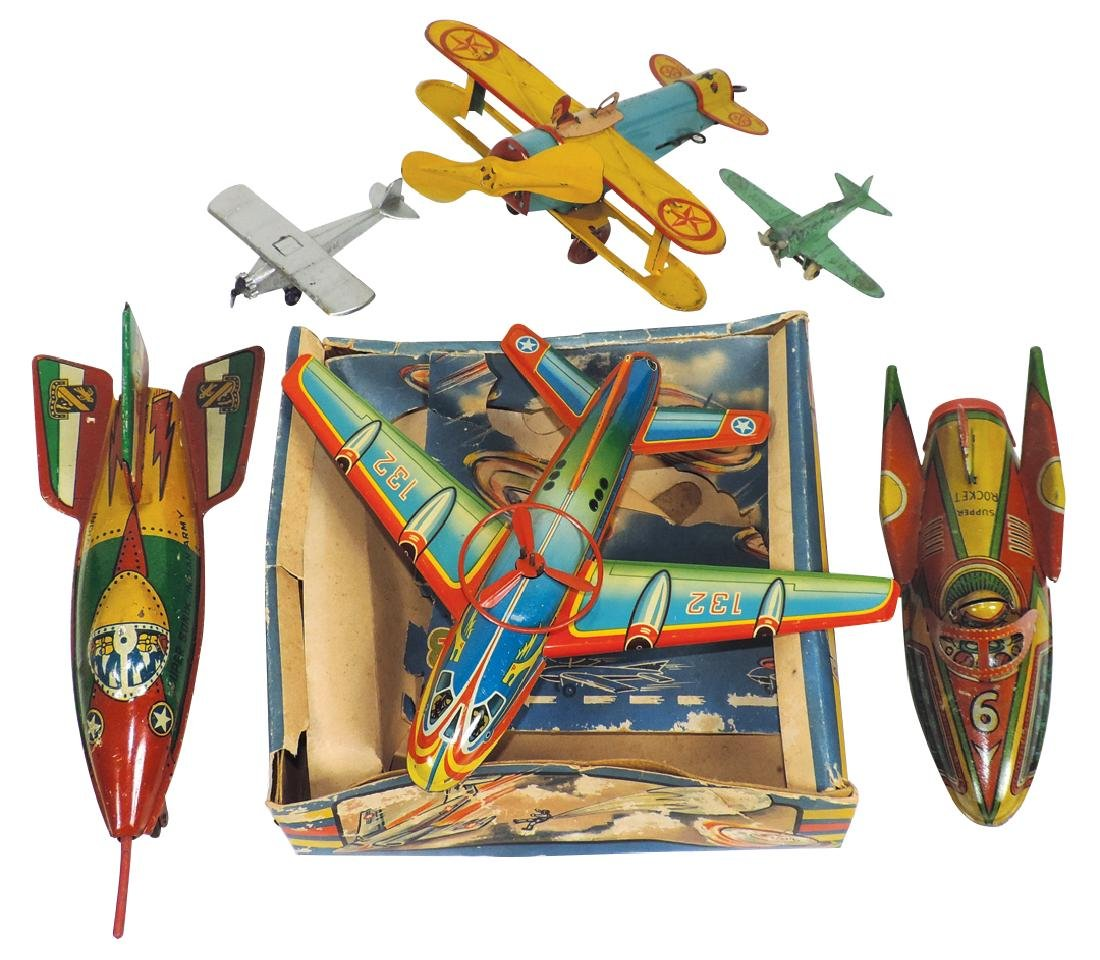 Toy airplanes (6), No. 132 Made in Western Germany,