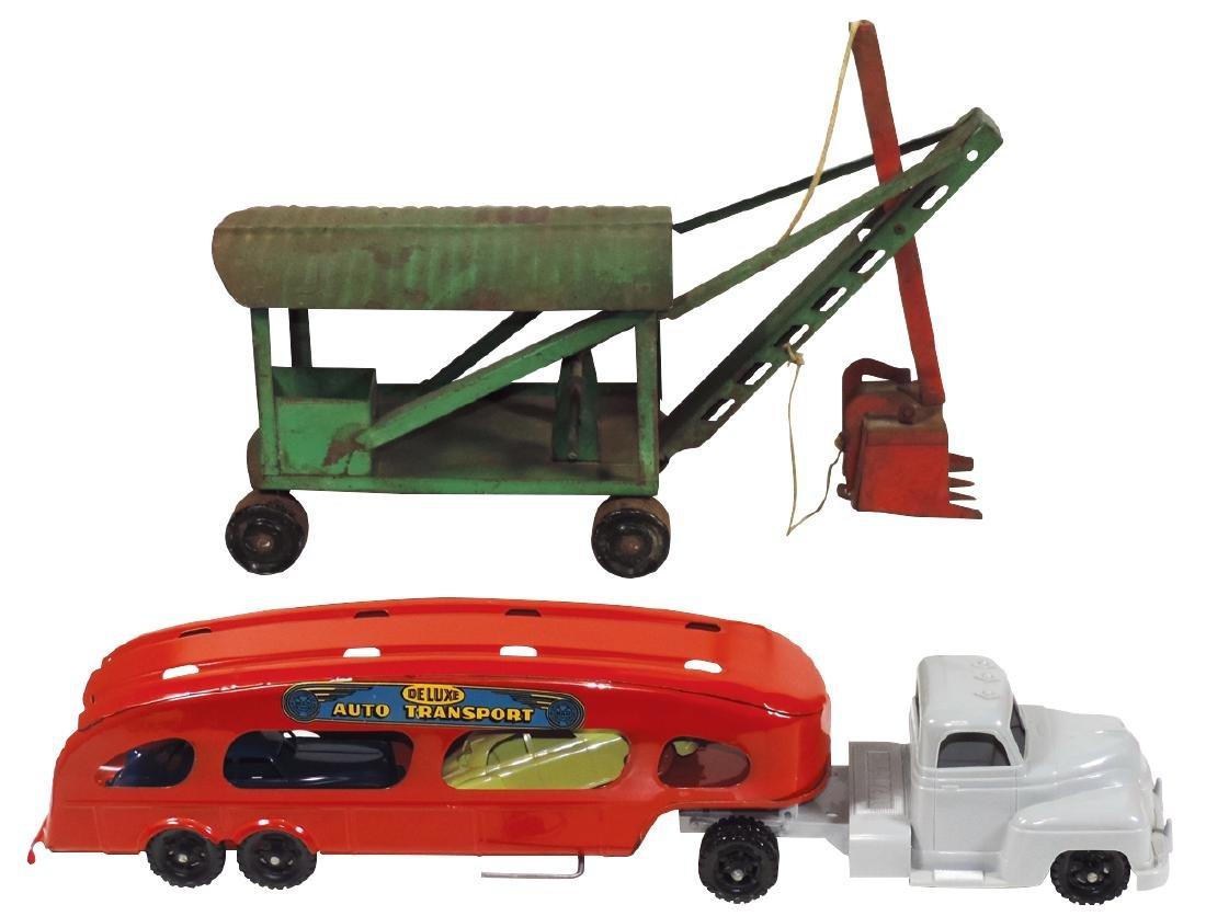 Toys (2), Marx DeLuxe Auto Transport, pressed steel &