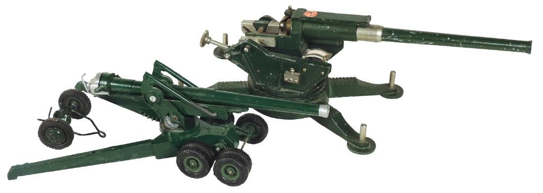 Toy cannons (2), one marked Britains Ltd. England,
