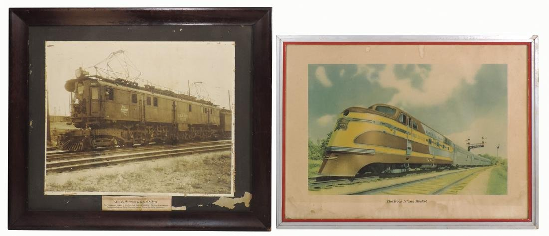 Railroad photograph & print (2), Chicago, Milwaukee &