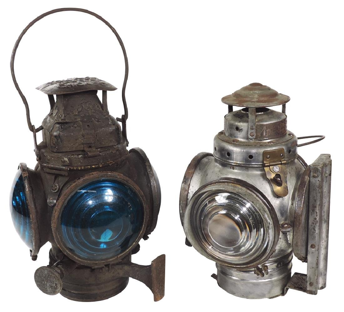 Railroad switch lanterns (2), Adlake