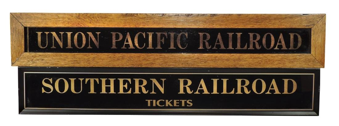 Railroad signs (2), Southern Railroad Tickets & Union