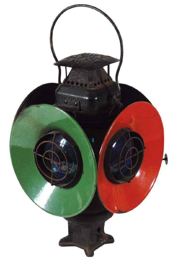 Railroad switch lantern, The Adlake Non-Sweating