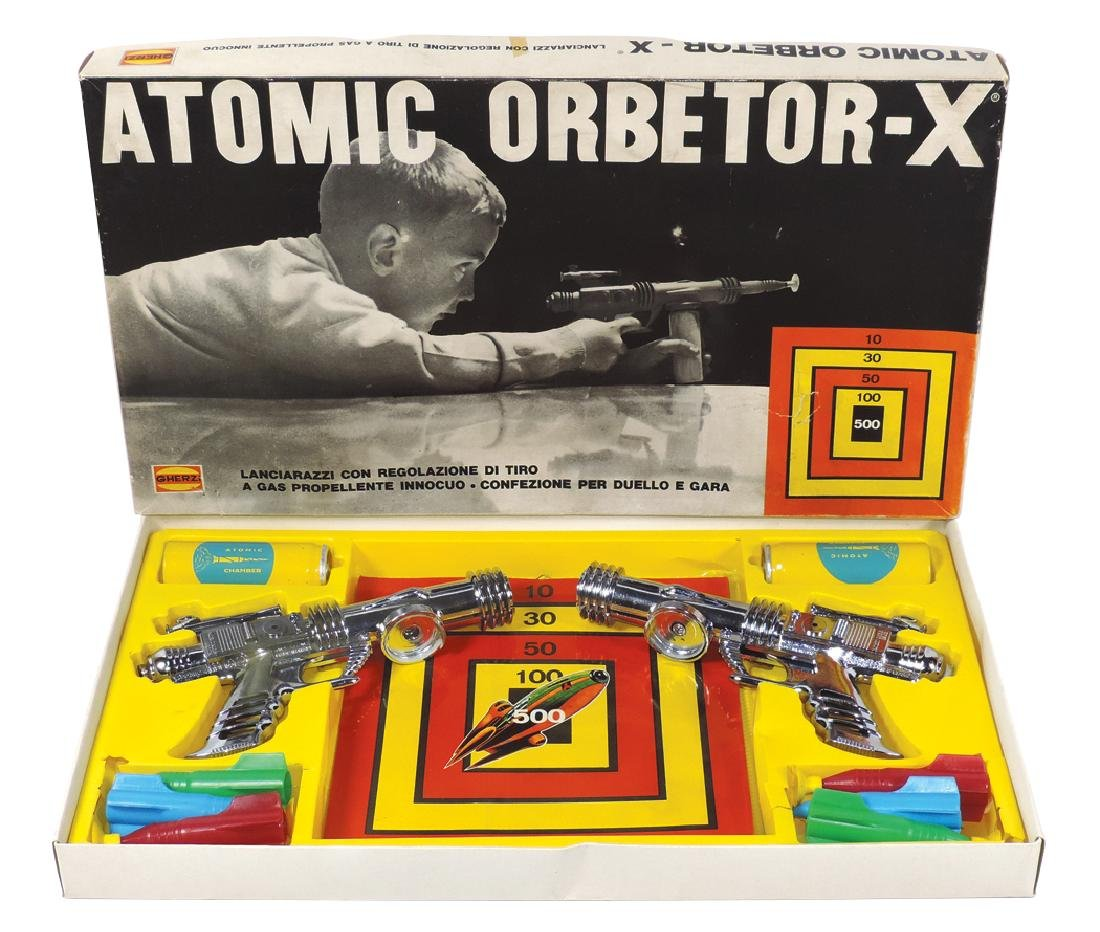 Space game, Atomic Orbetor-X, mfgd by Gherzi, appears